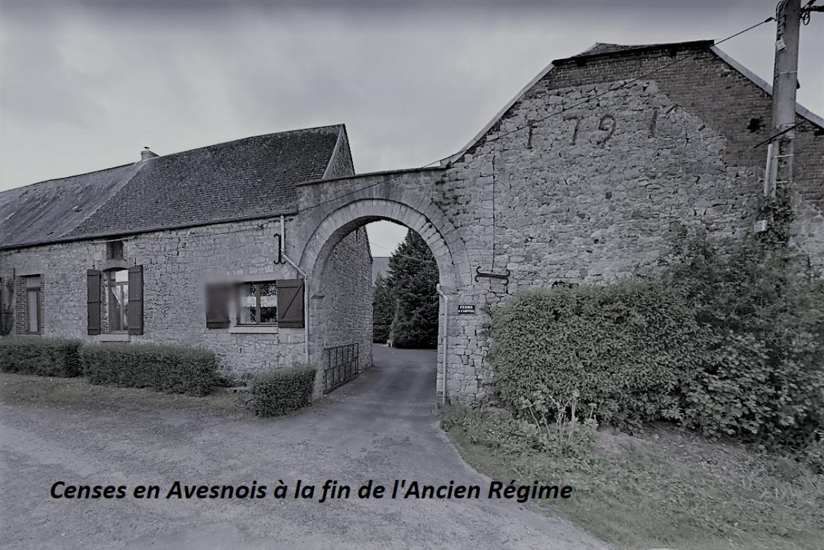 Censes en Avesnois à la fin de l'Ancien Régime